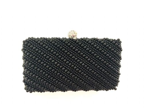 The Kikki Black Pearl Clutch